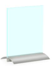 Husten- und Niesschutz: Thekenständer mit Aluminiumfuß 420x600mm