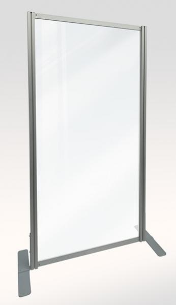 Mobile Spuckschutzwand 100 x 200 cm mit Standfuß